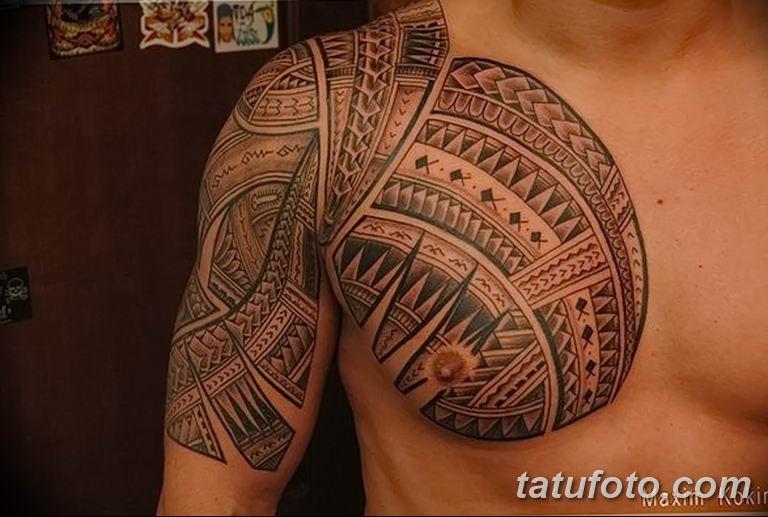 Фото тату орнамент на плече 10.07.2019 №044 - tattoo ornament on the shoul - tatufoto.com