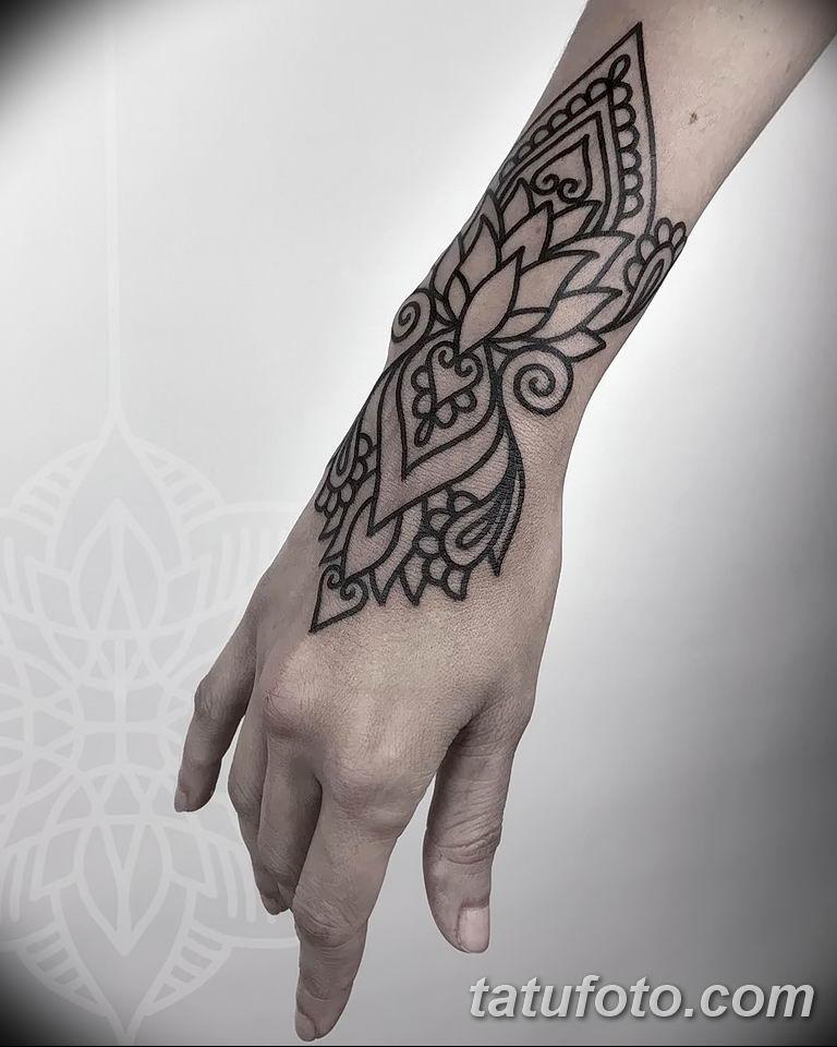 Фото тату орнамент на руке 10.07.2019 №001 - tattoo ornament on hand - tatufoto.com