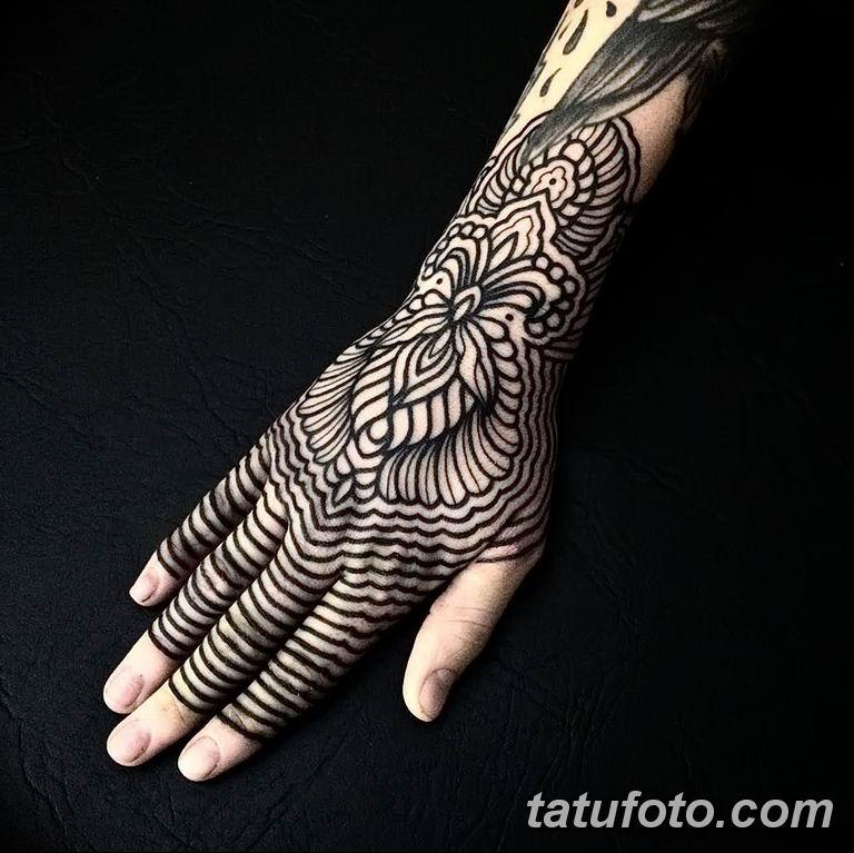 Фото тату орнамент на руке 10.07.2019 №003 - tattoo ornament on hand - tatufoto.com