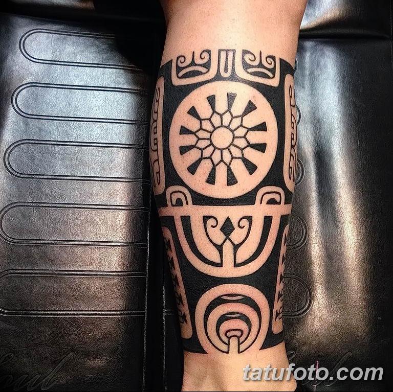 Фото тату орнамент на руке 10.07.2019 №008 - tattoo ornament on hand - tatufoto.com
