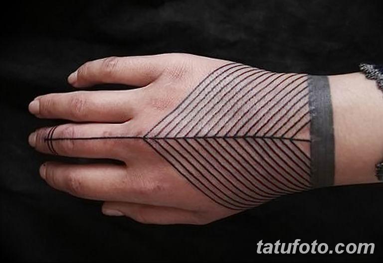 Фото тату орнамент на руке 10.07.2019 №009 - tattoo ornament on hand - tatufoto.com
