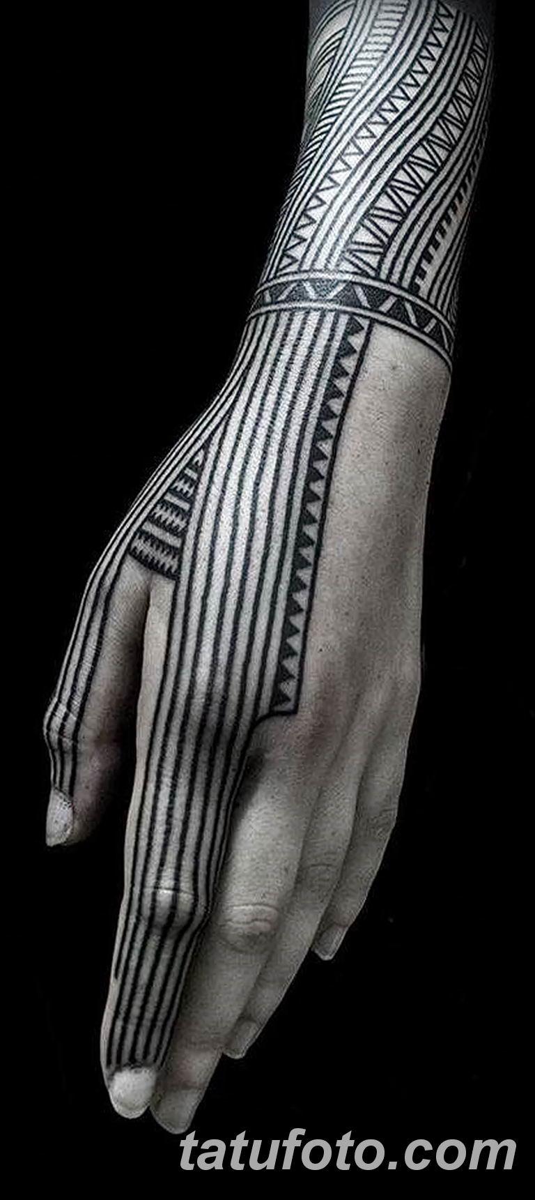 Фото тату орнамент на руке 10.07.2019 №010 - tattoo ornament on hand - tatufoto.com