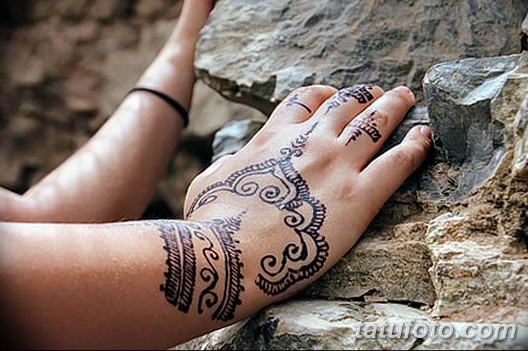 Фото тату орнамент на руке 10.07.2019 №011 - tattoo ornament on hand - tatufoto.com