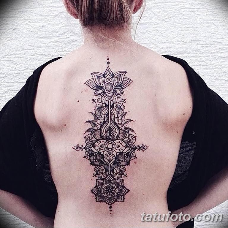 Фото тату орнамент на спине 10.07.2019 №006 - back tattoo ornament - tatufoto.com