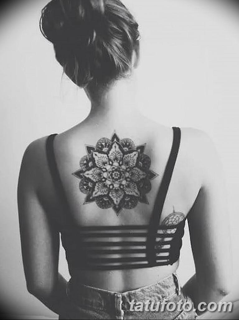 Фото тату орнамент на спине 10.07.2019 №012 - back tattoo ornament - tatufoto.com