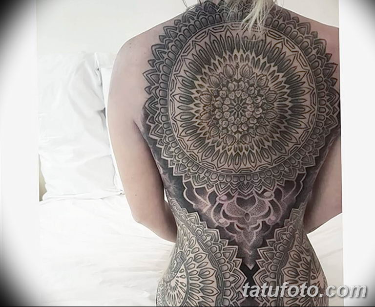 Фото тату орнамент на спине 10.07.2019 №014 - back tattoo ornament - tatufoto.com
