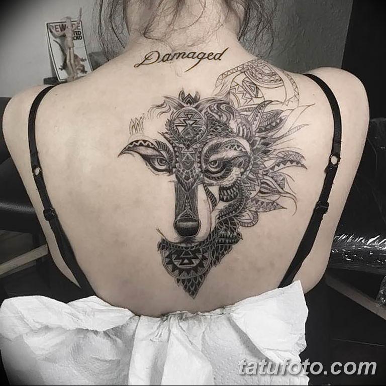 Фото тату орнамент на спине 10.07.2019 №015 - back tattoo ornament - tatufoto.com