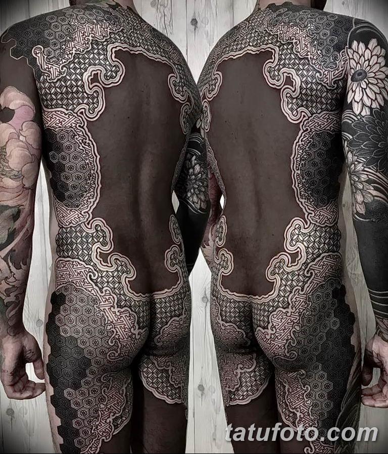 Фото тату орнамент на спине 10.07.2019 №024 - back tattoo ornament - tatufoto.com