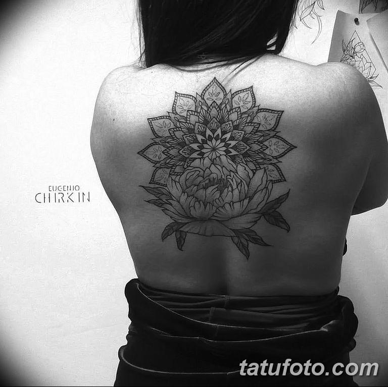 Фото тату орнамент на спине 10.07.2019 №030 - back tattoo ornament - tatufoto.com