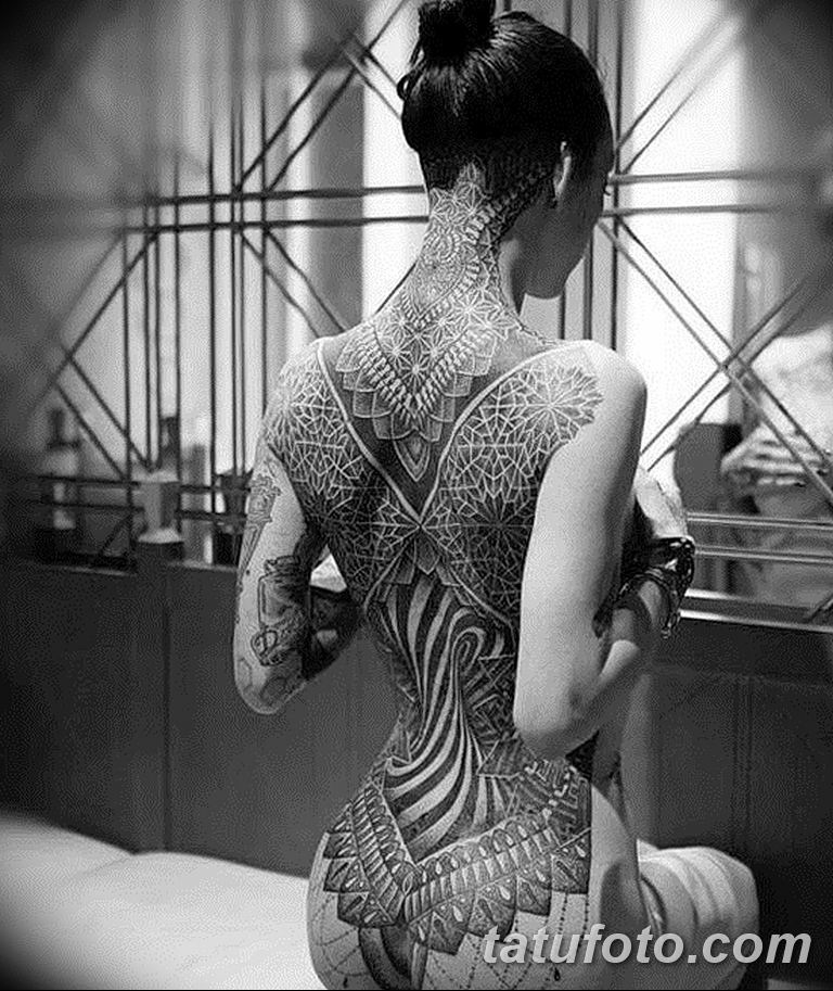 Фото тату орнамент на спине 10.07.2019 №037 - back tattoo ornament - tatufoto.com