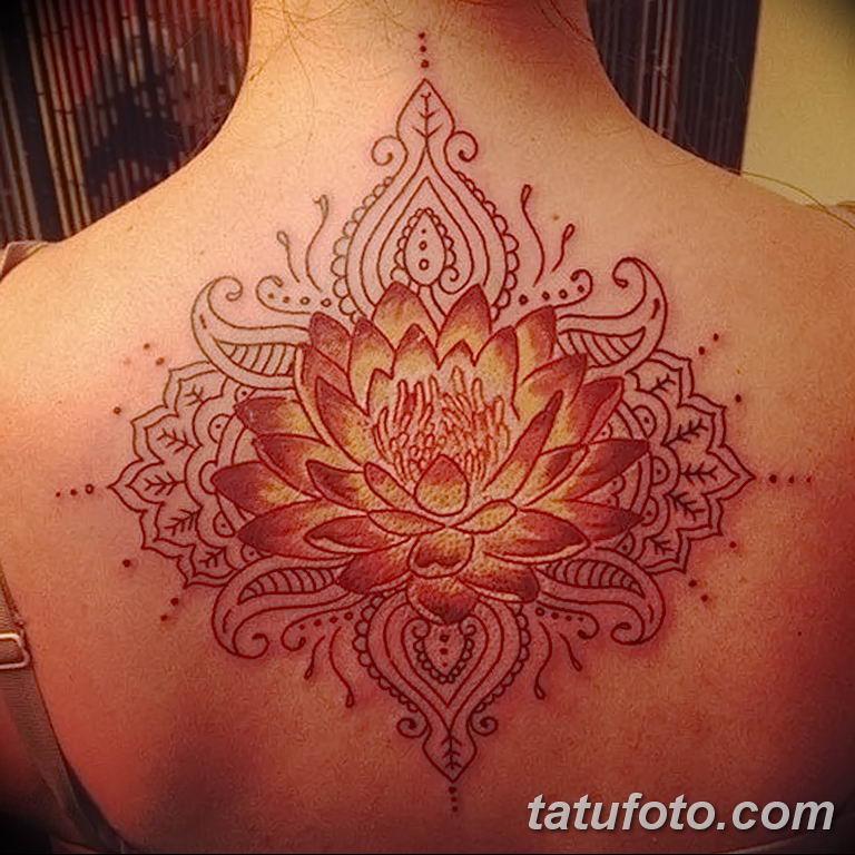 Фото тату орнамент на спине 10.07.2019 №040 - back tattoo ornament - tatufoto.com