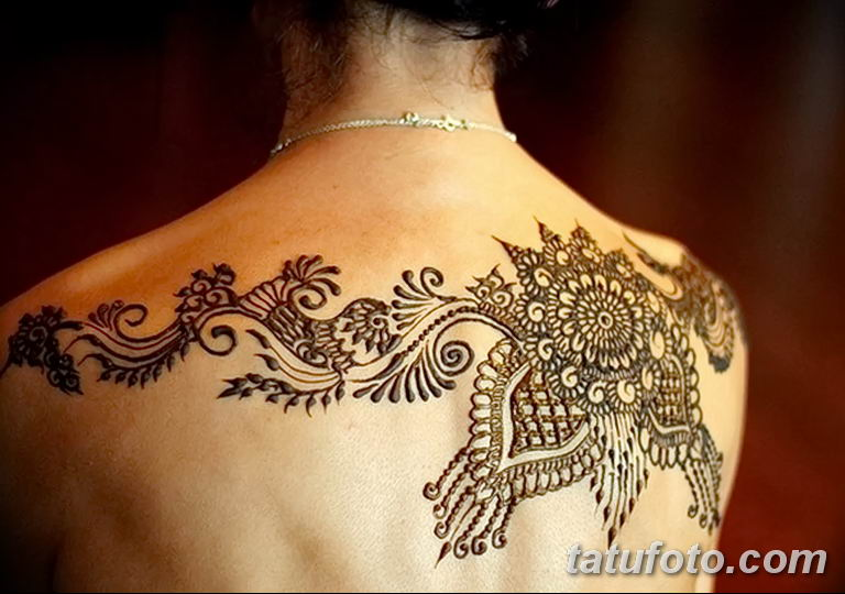 Фото тату орнамент на спине 10.07.2019 №041 - back tattoo ornament - tatufoto.com