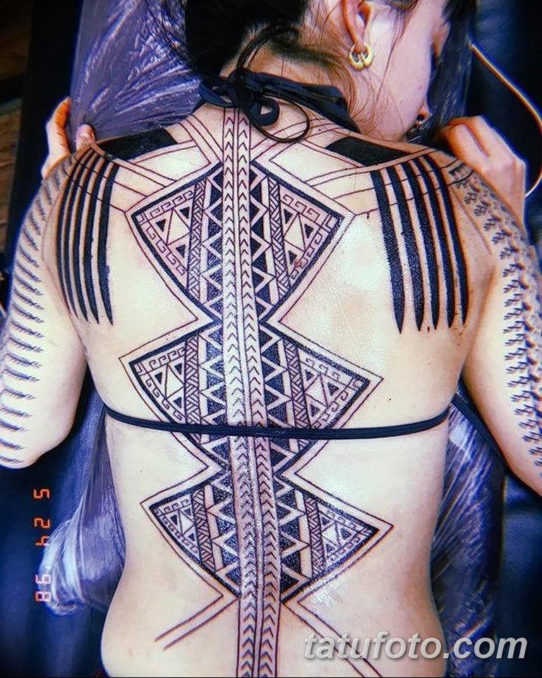 Фото тату орнамент на спине 10.07.2019 №042 - back tattoo ornament - tatufoto.com