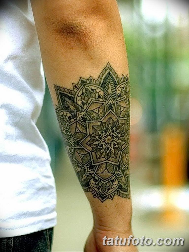Фото тату орнамент предплечье 10.07.2019 №005 - tattoo ornament forearm - tatufoto.com