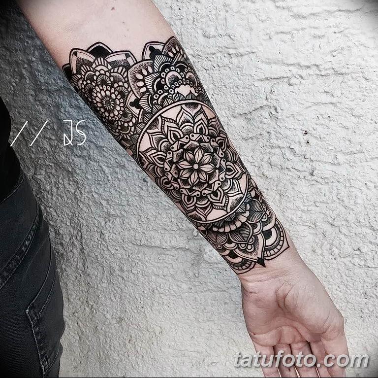 Фото тату орнамент предплечье 10.07.2019 №008 - tattoo ornament forearm - tatufoto.com