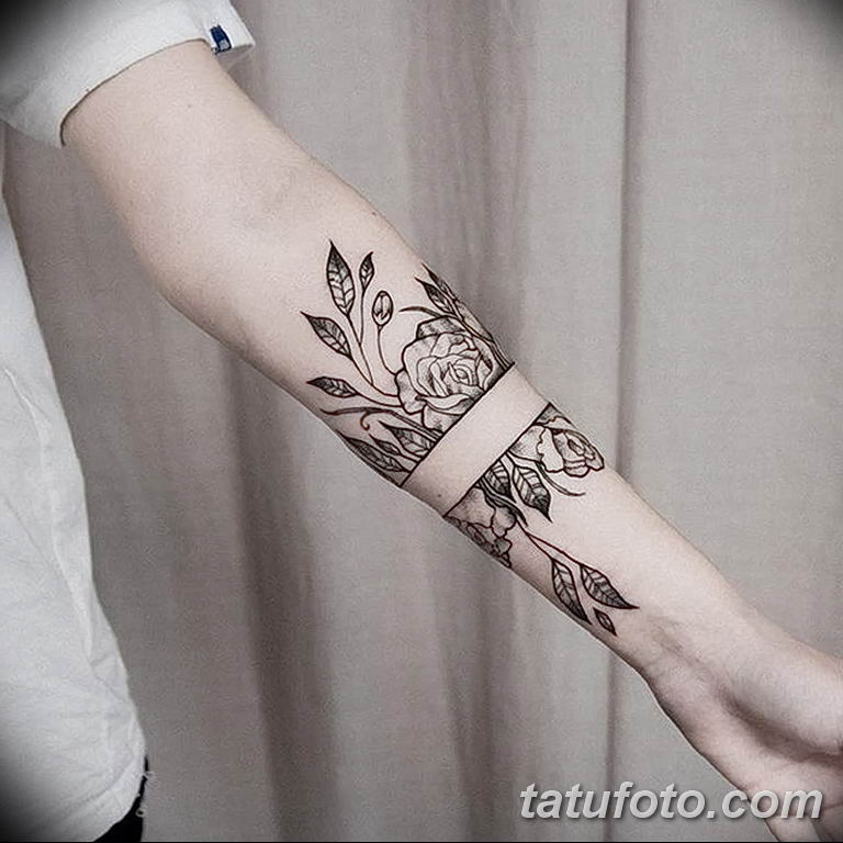 Фото тату орнамент предплечье 10.07.2019 №018 - tattoo ornament forearm - tatufoto.com