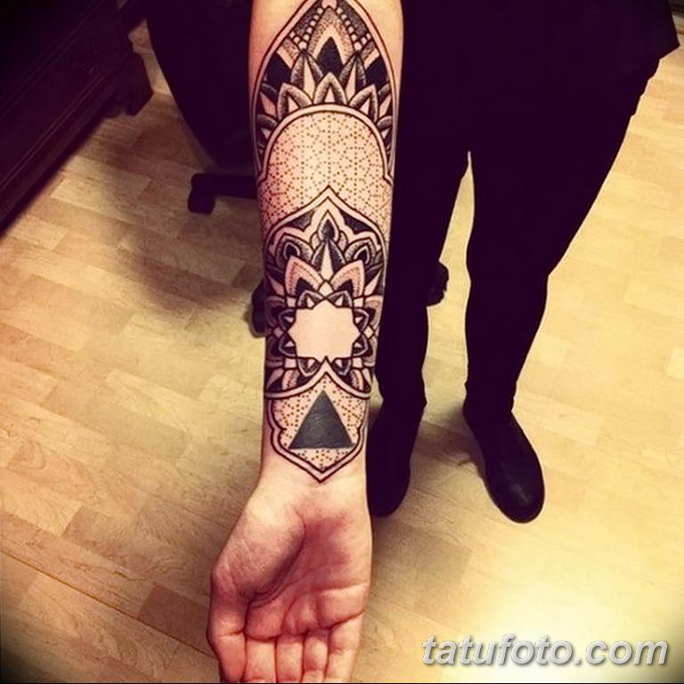 Фото тату орнамент предплечье 10.07.2019 №029 - tattoo ornament forearm - tatufoto.com