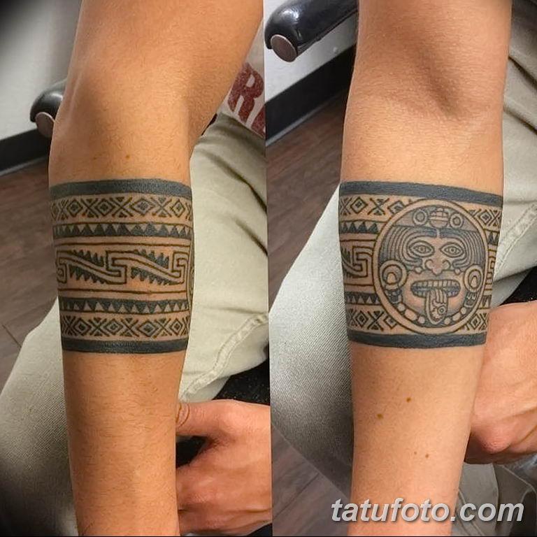 Фото тату орнамент предплечье 10.07.2019 №035 - tattoo ornament forearm - tatufoto.com