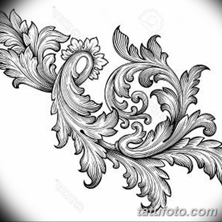 Фото тату растительный орнамент 10.07.2019 №003 - tattoo floral ornament - tatufoto.com