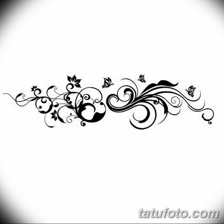 Фото тату растительный орнамент 10.07.2019 №004 - tattoo floral ornament - tatufoto.com