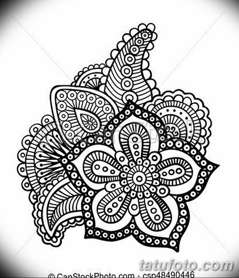 Фото тату растительный орнамент 10.07.2019 №005 - tattoo floral ornament - tatufoto.com