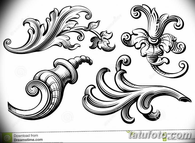 Фото тату растительный орнамент 10.07.2019 №007 - tattoo floral ornament - tatufoto.com