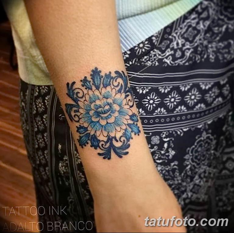 Фото тату растительный орнамент 10.07.2019 №008 - tattoo floral ornament - tatufoto.com