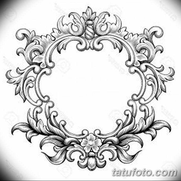 Фото тату растительный орнамент 10.07.2019 №010 - tattoo floral ornament - tatufoto.com