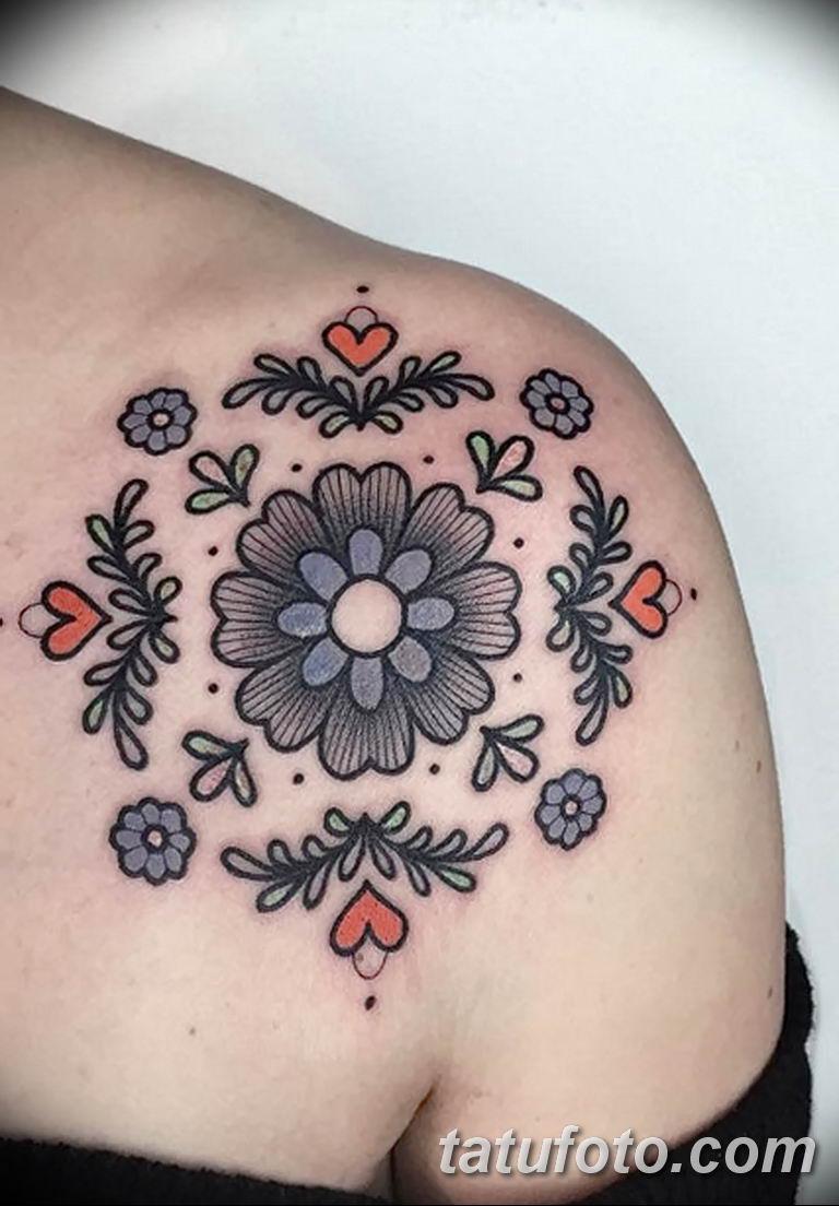 Фото тату растительный орнамент 10.07.2019 №012 - tattoo floral ornament - tatufoto.com