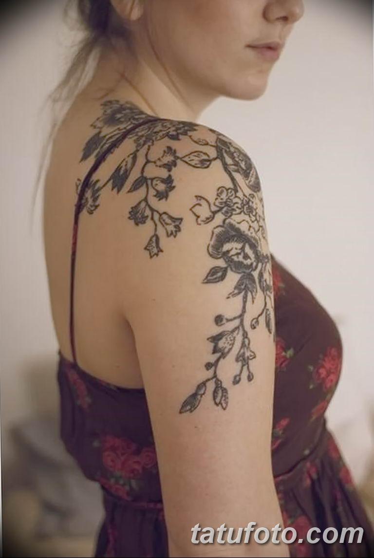 Фото тату растительный орнамент 10.07.2019 №013 - tattoo floral ornament - tatufoto.com