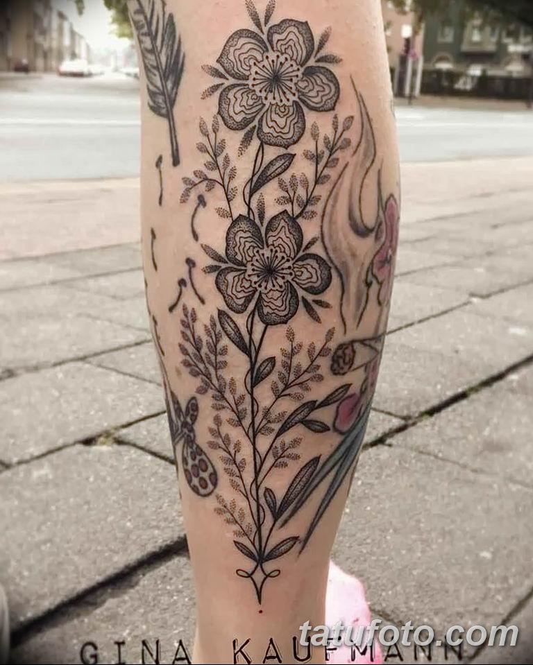 Фото тату растительный орнамент 10.07.2019 №014 - tattoo floral ornament - tatufoto.com