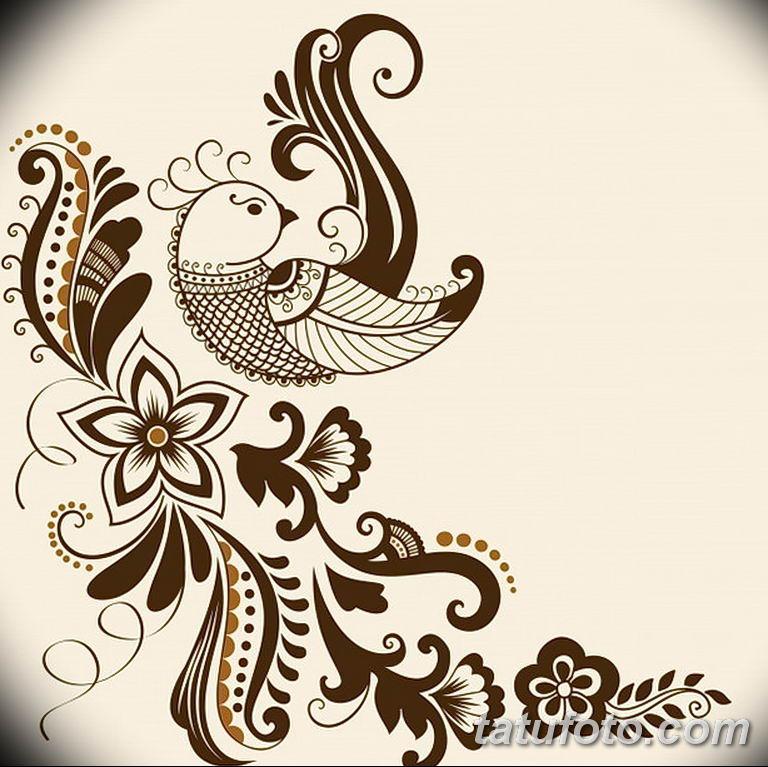 Фото тату растительный орнамент 10.07.2019 №018 - tattoo floral ornament - tatufoto.com