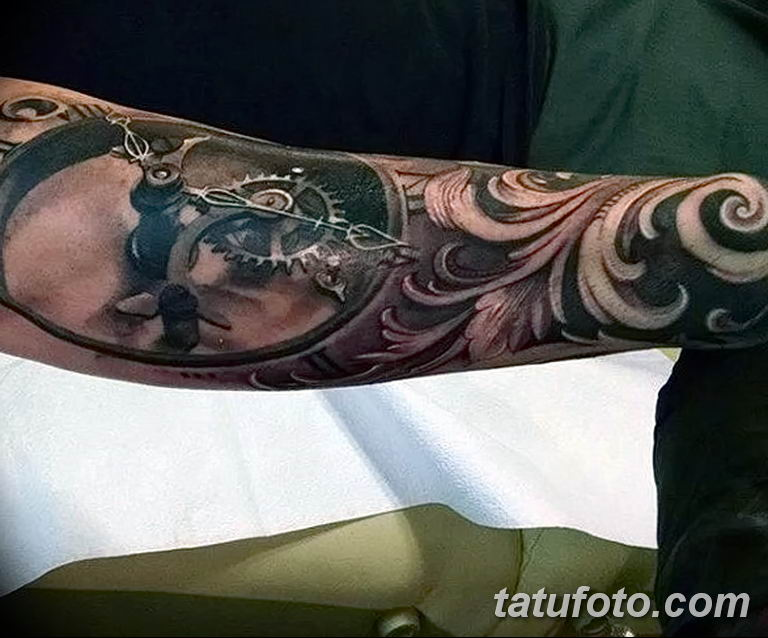 Фото тату рукав орнамент 10.07.2019 №009 - tattoo sleeve ornament - tatufoto.com