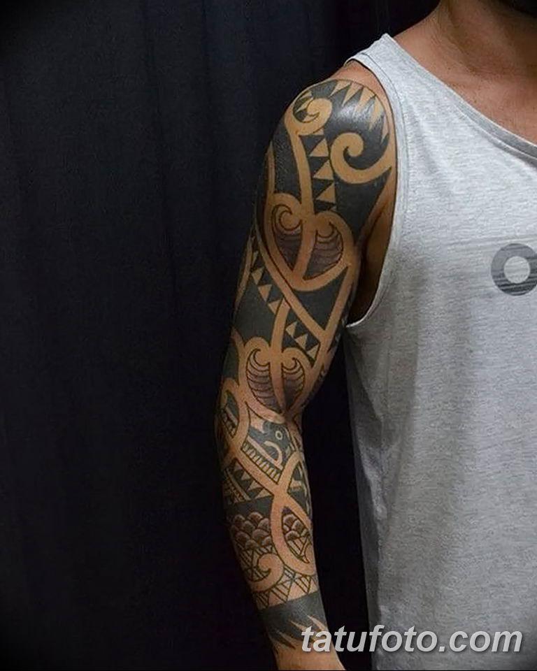 Фото тату рукав орнамент 10.07.2019 №020 - tattoo sleeve ornament - tatufoto.com