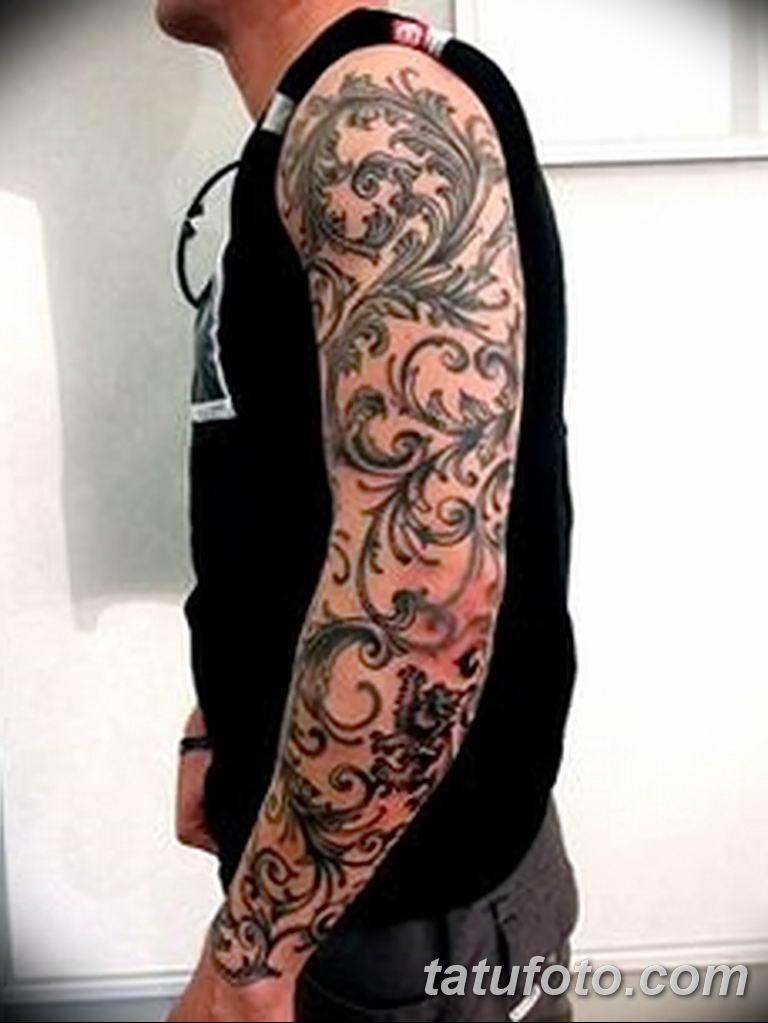 Фото тату рукав орнамент 10.07.2019 №026 - tattoo sleeve ornament - tatufoto.com