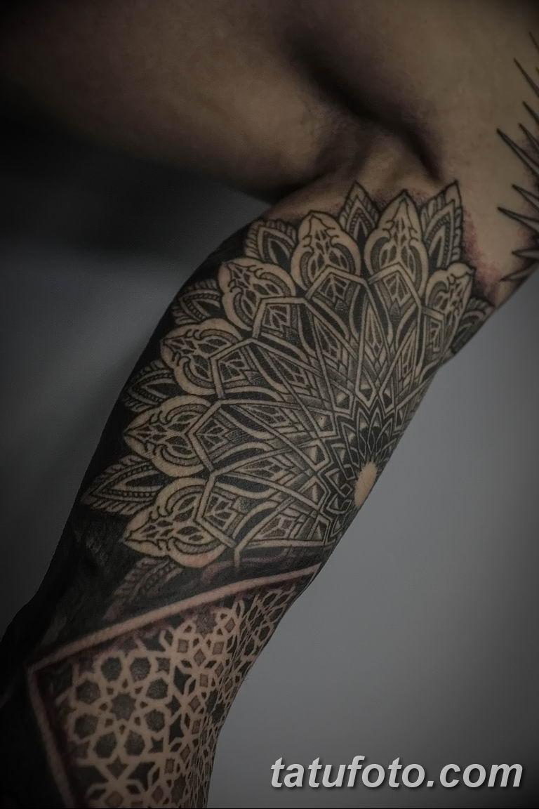 Фото тату рукав орнамент 10.07.2019 №031 - tattoo sleeve ornament - tatufoto.com