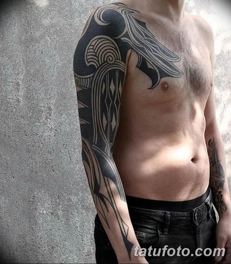 Фото тату рукав орнамент 10.07.2019 №038 - tattoo sleeve ornament - tatufoto.com