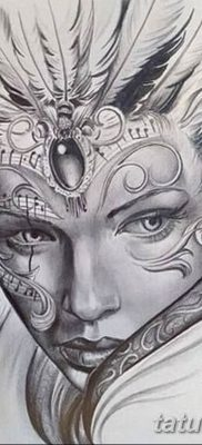 эскиз тату эльф 16.07.2019 №077 – sketch tattoo elf – tatufoto.com
