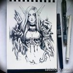 эскиз тату эльф 16.07.2019 №084 - sketch tattoo elf - tatufoto.com