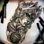 эскиз тату эльф 16.07.2019 №097 - sketch tattoo elf - tatufoto.com