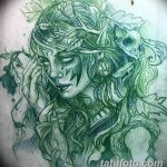 эскиз тату эльф 16.07.2019 №102 - sketch tattoo elf - tatufoto.com