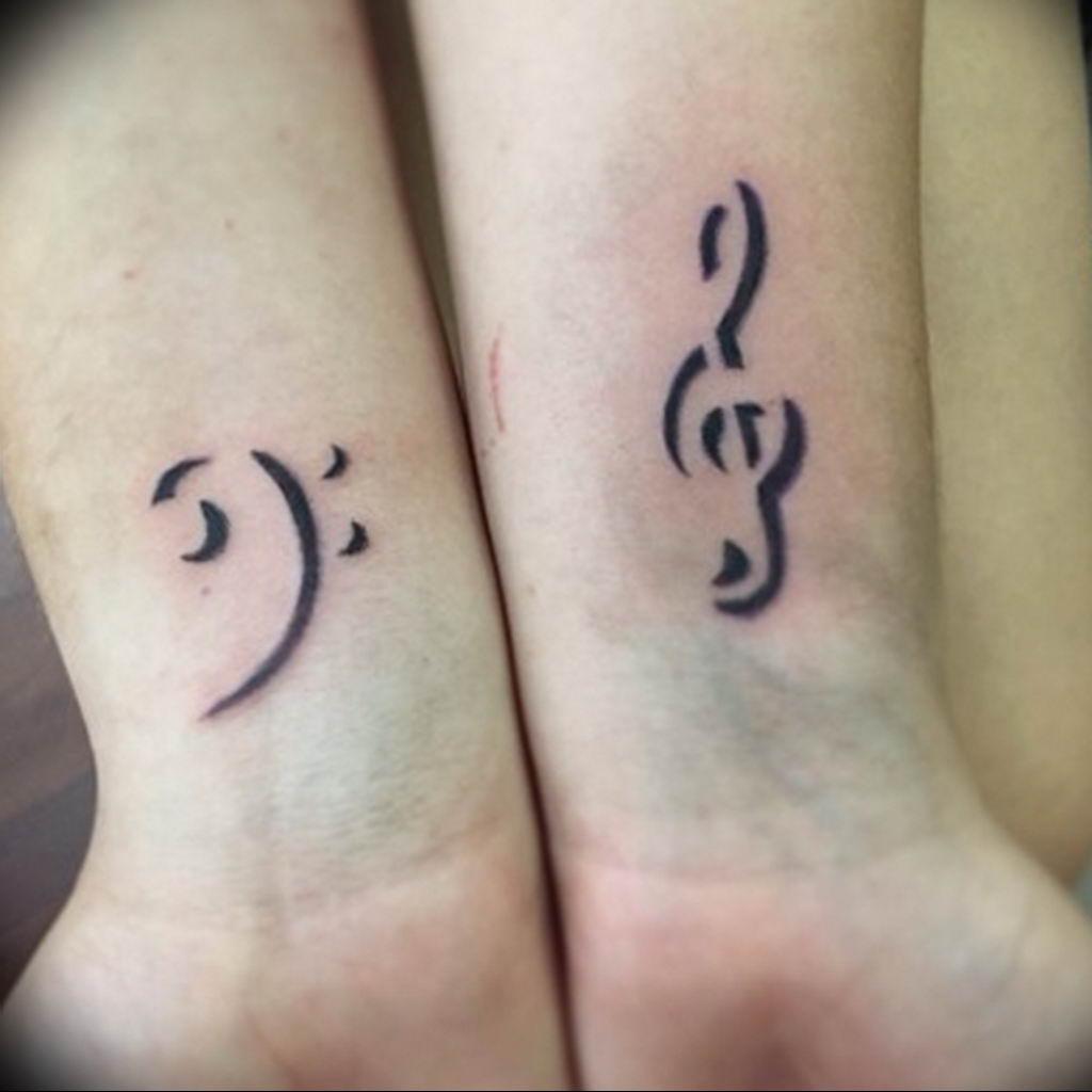 Фото басовый ключ тату 21.08.2019 №020 - bass clef tattoo - tatufoto.com