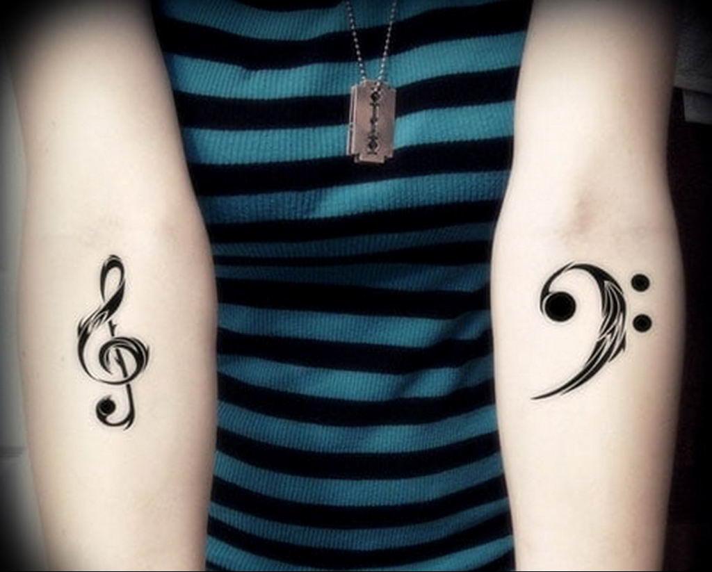 Фото басовый ключ тату 21.08.2019 №022 - bass clef tattoo - tatufoto.com