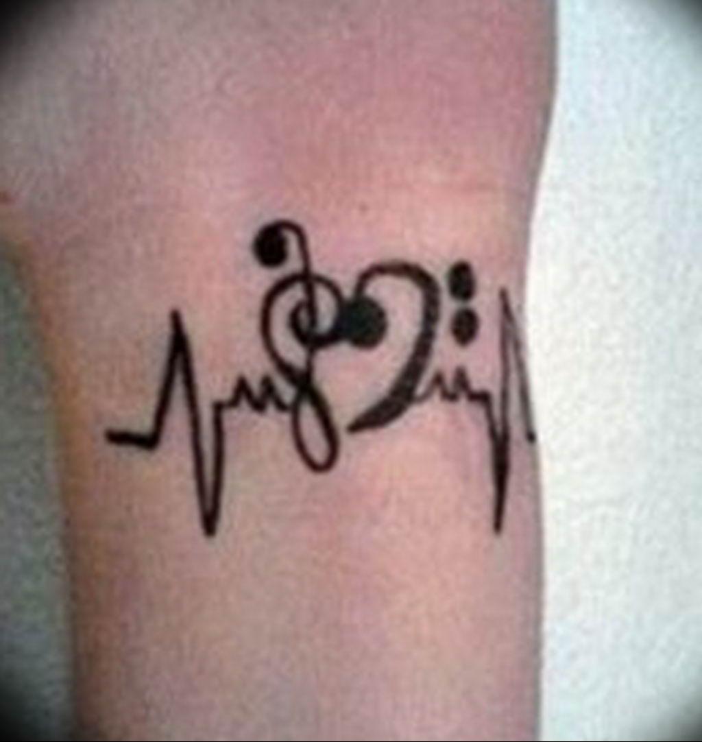 Фото басовый ключ тату 21.08.2019 №076 - bass clef tattoo - tatufoto.com