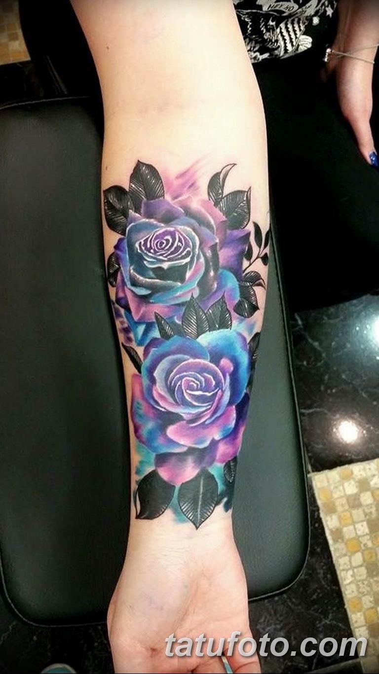 Фото красивые розы тату 12.08.2019 №005 - beautiful roses tattoo - tatufoto.com