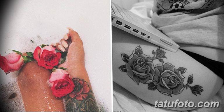 Фото красивые розы тату 12.08.2019 №006 - beautiful roses tattoo - tatufoto.com