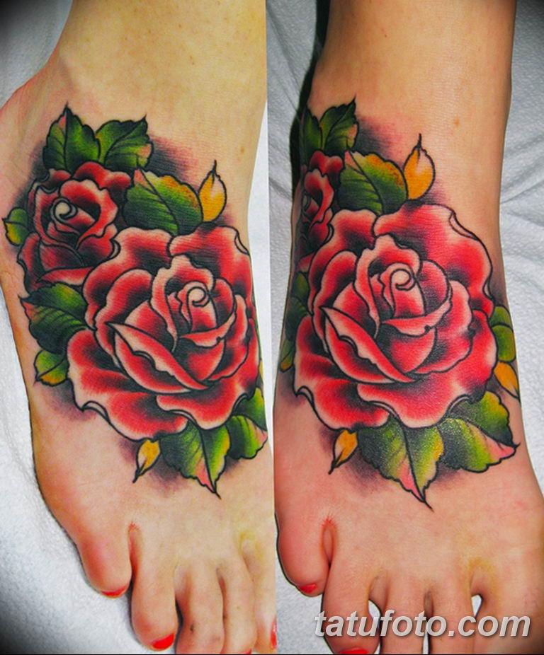 Фото красивые розы тату 12.08.2019 №014 - beautiful roses tattoo - tatufoto.com