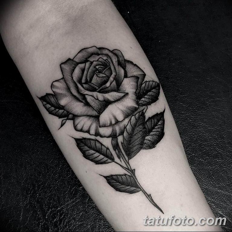 Фото красивые розы тату 12.08.2019 №015 - beautiful roses tattoo - tatufoto.com