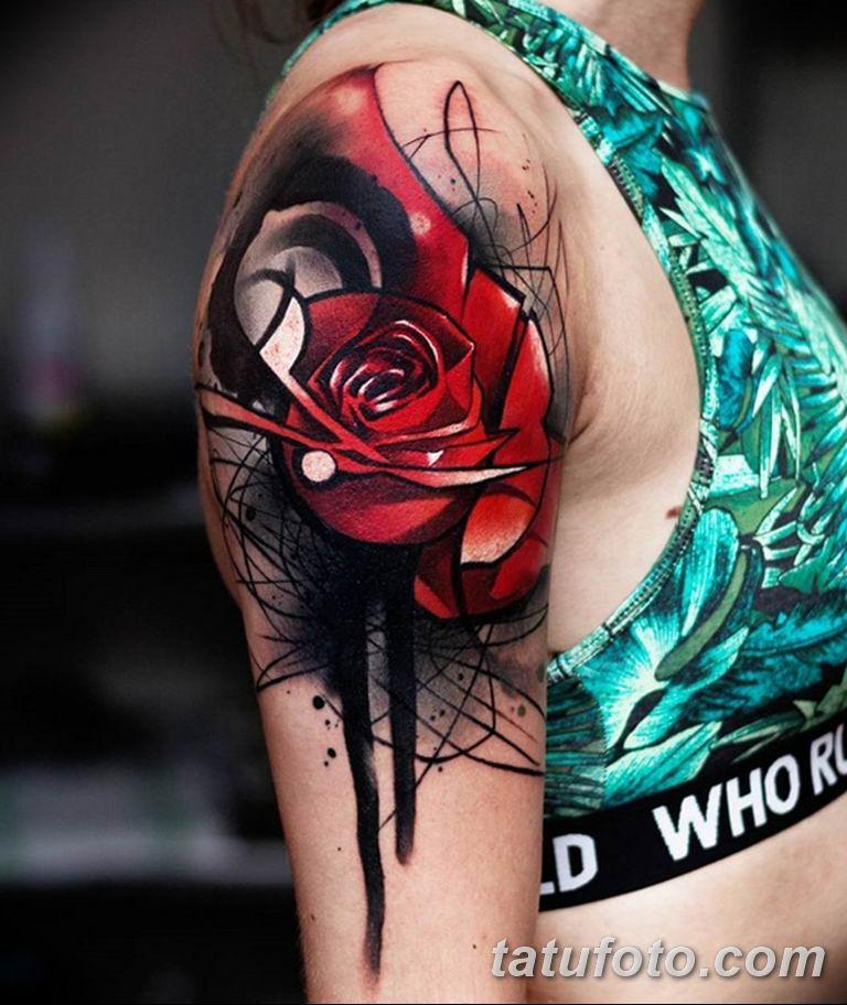 Фото красивые розы тату 12.08.2019 №016 - beautiful roses tattoo - tatufoto.com