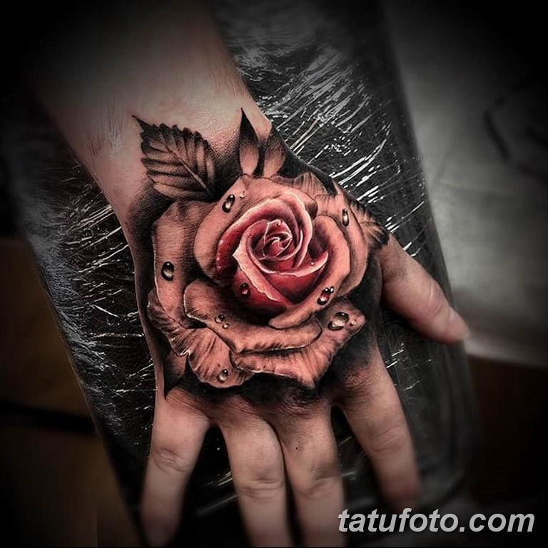 Фото красивые розы тату 12.08.2019 №027 - beautiful roses tattoo - tatufoto.com